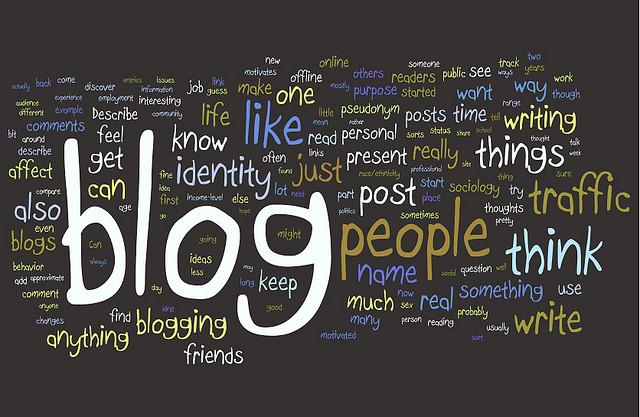 blogging wordcloud