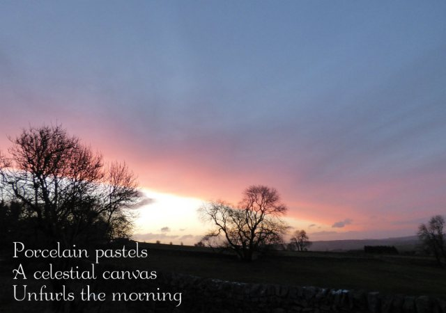 porcelain pastels, a celestial canvas unfurls the morning