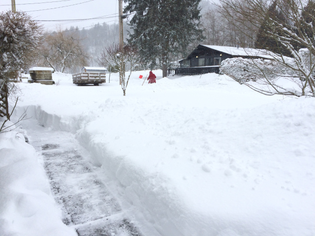 30 centimeters of snow dug out three times