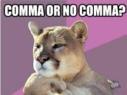 mountain lion comma
