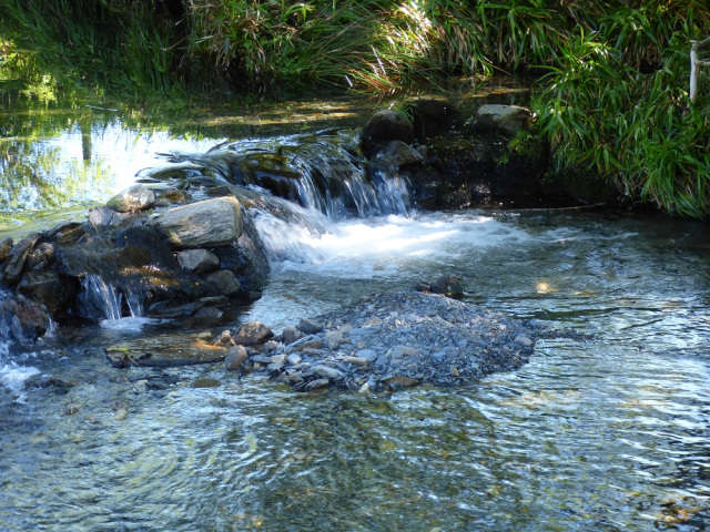 Image of clear stream and waterfall